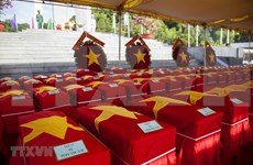 Rinden homenaje póstumo a 262 soldados vietnamitas caídos en Camboya