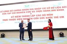 Revista sobre Pediatría de Vietnam se integra en base datos regional