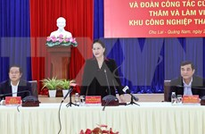Presidenta del Parlamento vietnamita destaca esfuerzos de Quang Nam en medio de pandemia