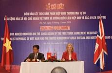 Resaltan significado de acuerdo de libre comercio entre Vietnam y Reino Unido