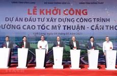 Primer ministro de Vietnam inaugura proyectos de tránsito clave del Sur