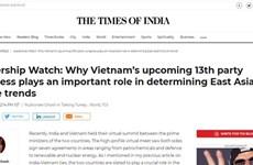 Periódico indio destaca importancia del XIII Congreso Nacional del Partido Comunista de Vietnam