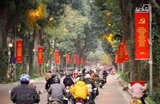 Hanoi decora calles para saludar el XIII Congreso Nacional del Partido