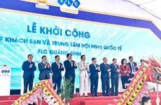 Inician construcción de complejo de hoteles en provincia de Quang Binh
