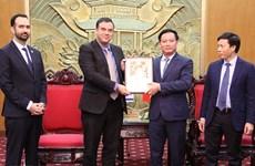 Provincia vietnamita patentiza disposición de favorecer inversiones israelíes