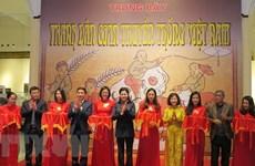 Inauguran exposición de pinturas folclóricas tradicionales de Vietnam