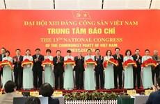 En funcionamiento Centro de Prensa del XIII Congreso Nacional partidista de Vietnam