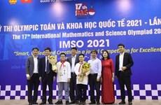 Estudiantes vietnamitas ganan 20 medallas en Olimpiada Internacional de Matemáticas y Ciencias