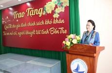 Presidenta del Parlamento vietnamita pide más atención a la población en Ben Tre