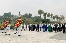 Dirigentes de Ciudad Ho Chi Minh rinden homenaje a los mártires de guerra