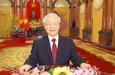 Máximo dirigente de Vietnam felicita al pueblo por Año Nuevo Lunar 2021