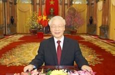 Líderes y amigos internacionales siguen felicitando al máximo dirigente de Vietnam