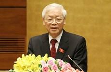 Líderes mundiales felicitan a reelegido secretario general del Partido Comunista de Vietnam