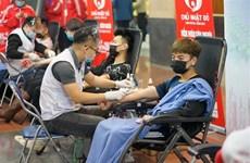 Pobladores de provincia vietnamita de Soc Trang participan en donación voluntaria de sangre