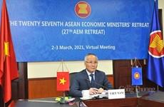 Participa Vietnam en reunión de ministros de Economía de la ASEAN