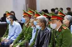 Acusados involucrados en disturbios en Dong Tam solicitan reducción de penas