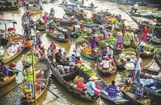 Provincia vietnamita de Can Tho promueve turismo verde en mercado flotante de Cai Rang