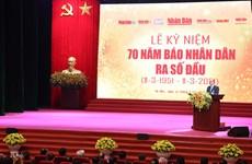 Primer ministro de Vietnam resalta el empeño del periódico Nhan Dan