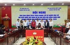Hanoi tiene 33 candidatos autonominados para las próximas elecciones