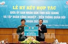 Promueven cooperación entre Viettel y provincia de Bac Giang en transformación digital