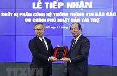 Vietnam recibe equipos para la plataforma de informes gubernamentales
