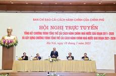 Vietnam hace balance del programa de reforma administrativa