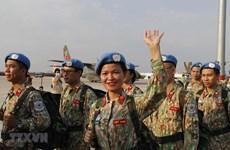 Parte tercer hospital de campaña de Vietnam para misión de mantenimiento de la paz en Sudán del Sur