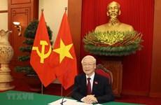 Máximo dirigente partidista de Vietnam dialoga con presidente de Rusia