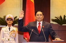 Pham Minh Chinh jura su cargo como primer ministro de Vietnam