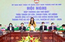 Presentan expedientes de candidatos de Hanoi a la Asamblea Nacional de XV legislatura