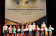 Estudiantes vietnamitas ganan 16 medallas de oro en concurso internacional de matemáticas