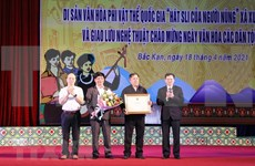 Canto sli de etnia Nung en Bac Kan, patrimonio intangible de Vietnam
