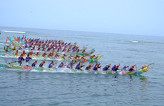 Reconocen festival de carreras de barcos de Ly Son como patrimonio nacional de Vietnam