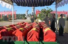 Rinden homenaje póstumo a combatientes vietnamitas fallecidos en Laos