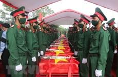 Rinden homenaje póstumo a voluntarios vietnamitas caídos durante la guerra de Laos