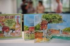 Reminiscencias de mil años de Hanoi a través de libro ilustrado 3D