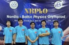 Estudiantes de Hanoi ganan medallas en Olimpiada de Física Nórdica-Báltica