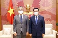 Presidente de la Asamblea Nacional de Vietnam recibe al embajador de Japón