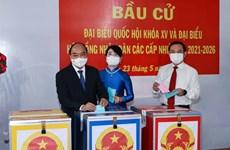Presidente de Vietnam emite voto en Ciudad Ho Chi Minh