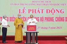 Presidente de Vietnam apela a la unidad del pueblo en lucha antiepidémica