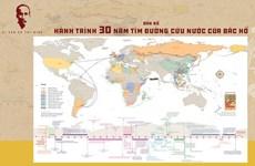 Lanzan mapa del viaje del Tío Ho para buscar el camino de salvación nacional