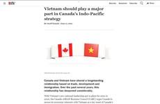 Comunidad empresarial canadiense enfatiza potencial de cooperación con Vietnam