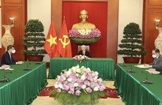 Máximo dirigente partidista de Vietnam dialoga con presidente de Sri Lanka