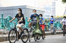 Bicicleta resurge como medio de transporte en Hanoi en época pandémica
