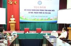 Oportunidades para la diplomacia popular vietnamita en nueva situación