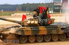 Equipo vietnamita de artillería, listo para los Juegos Militares Internacionales 2021