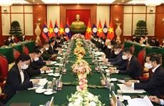 Ratifican compromiso de enriquecer relaciones especiales Vietnam-Laos