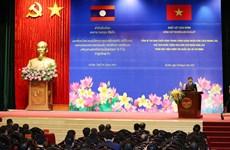 Máximo dirigente de Laos visita Academia Nacional de Política de Ho Chi Minh