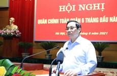 Premier vietnamita alaba aportes del Ejército a los logros del país