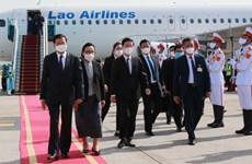 Prensa de Laos resalta éxito de visita oficial de su máximo dirigente a Vietnam